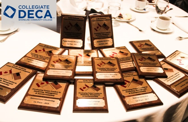 Shoreline Community College's awards from DECA's 2016 Pacific Northwest Career Development Conference held Feb. 18-20 in Spokane, WA.
