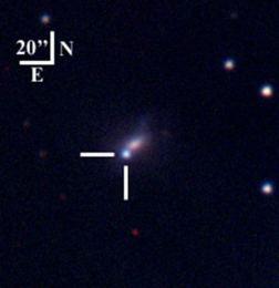 NGC 1821 Gökadasındaki SN 2002bj süpernovası.