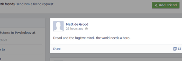de Grood's Facebook account; Via Facebook