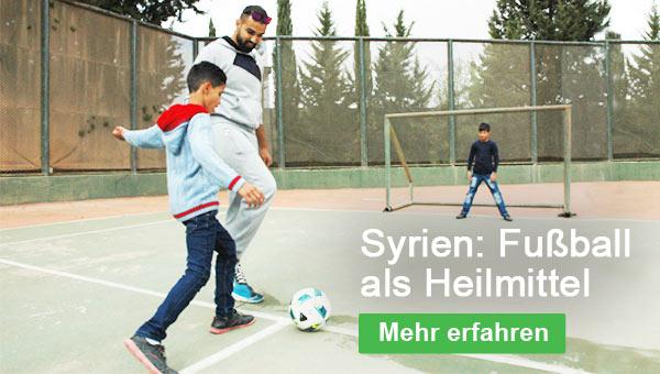 Fußball als Heilmittel: Sport gibt Kriegswaisen in Syrien wieder Halt