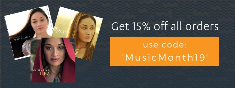 15% off Maisey Rika CDs
