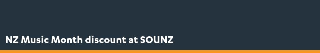NZ Music Month discount at SOUNZ