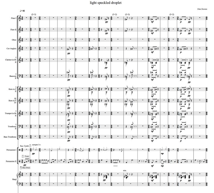 Extract 1: bars 1-17 (winds and percussion)
