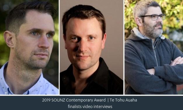 SOUNZ Contemporary Award 2019 Finalist Video Interviews