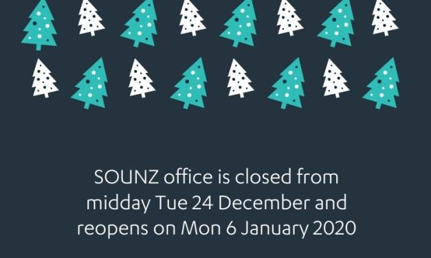 2019 Holiday closure