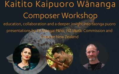 SOUNZ Kaitito Kaipuoro Wānanga | Composer Workshop | April 2020