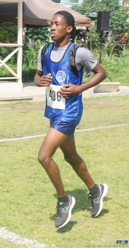 It was silver and gold Marbeq Edgar at CARIFTA in the Under-20 Boys 800 m and 1500 m.