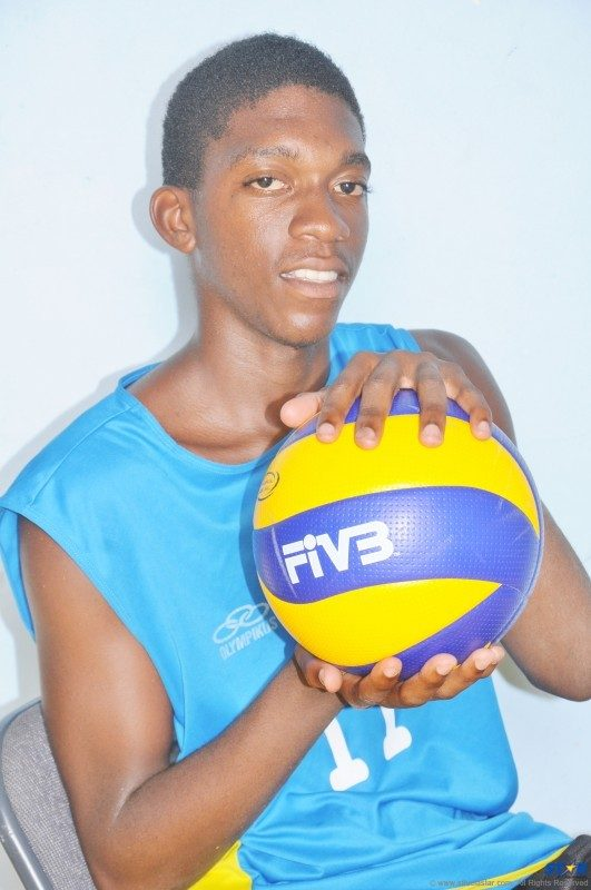 Junior Volleyball Captain Augustin Faulkner.