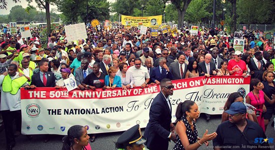 On Wednesday tens of thousands from all over the world came together to celebrate the 1963 March on Washington, among them Saint Lucia prime minister Kenny Anthony.