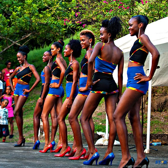 Contestants for the upcoming Miss Choiseul Pageant 2013. Photo credit: Bill Mortley