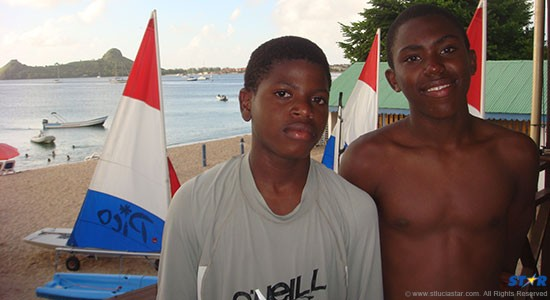 Kaysean (L) and Chrisanki (R) have their sights on being #1 Youth Sailors in Saint Lucia.