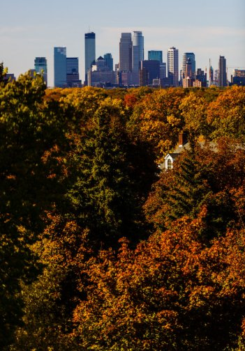 The Minneapolis skyline. (Photo by Mike Ekern '02)