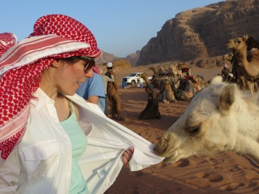 "Second Place, Tommies Abroad: Photo by Lauren Buchholz, Wadi Rum, Jordan. ""Camel Games."""