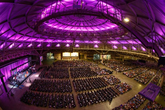 Undergraduate commencement in the Minneapolis Convention Center.