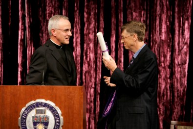 Gates received an honorary degree from President Dennis Dease.