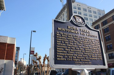 Plaque dedicated to Rosa Parks, Montgomery, Alabama. Photo by Kathryn Hubly.