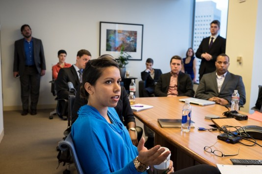 Each team presented the problem they'd hit on in their first day of empathy interviews, as well as the business solution they'd been honing for the last two weeks.