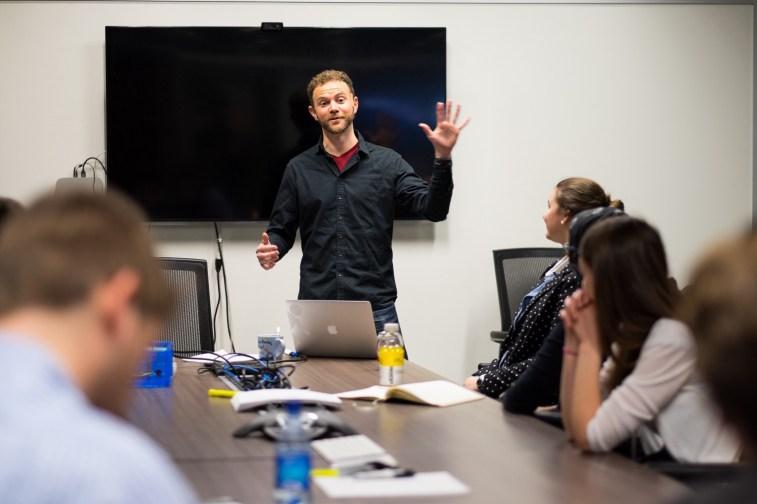 Nic Werner kicks off the workshop with a quick presentation.