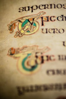 A detail from the Book of Kells.
