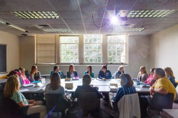 A Women's Studies class in John Roach Center for the Liberal Arts.
