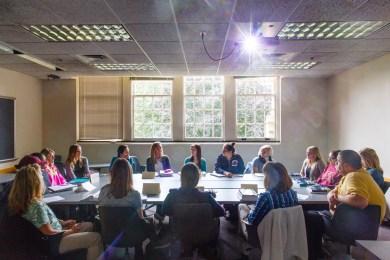 A Women's Studies class in John Roach Center for the Liberal Arts.