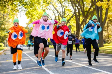 The homecoming Wellness 5k featured some inventive costumes.