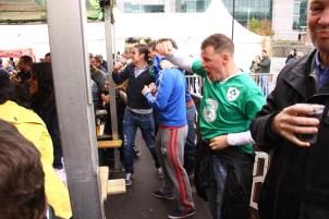 Rugby Fans in Dublin