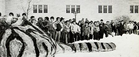 A massive snow tiger in 1982.