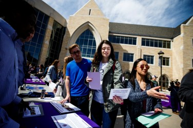 Students stopped by more than a dozen informational tables as changemaking clubs and organizations celebrated.