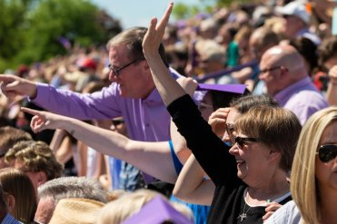 Thousands of family, friends and St.Thomas community members were on hand to celebrate commencement.