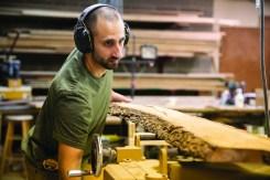 Dan Purkapile in his workshop.