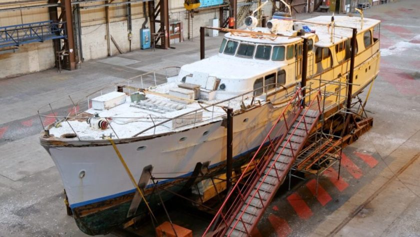 Superyacht: Anahita V was launched in 1952.