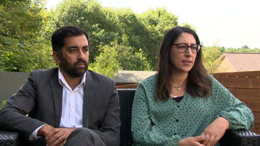 Legal: Humza Yousaf and Nadia El-Nakla have accused Little Scholars Day Nursery in Dundee of discrimination.