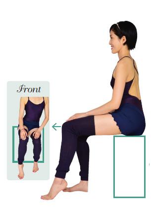 バレエエクササイズ椅子に座って膝を動かす