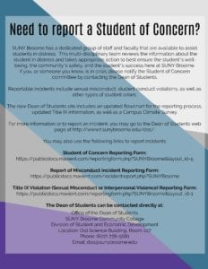 Need to report a student of concern?