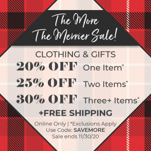 Bookstore: The more the merrier sale! Sale ends 11/30/2020; Free shipping.
