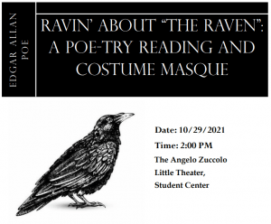 Theater Department presents a Poe-try Reading and Costume Masque 10-29-2021 in the Angelo Zuccolo Little Theater