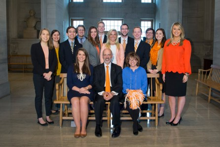 Group photo of interns with President Joe DiPietro