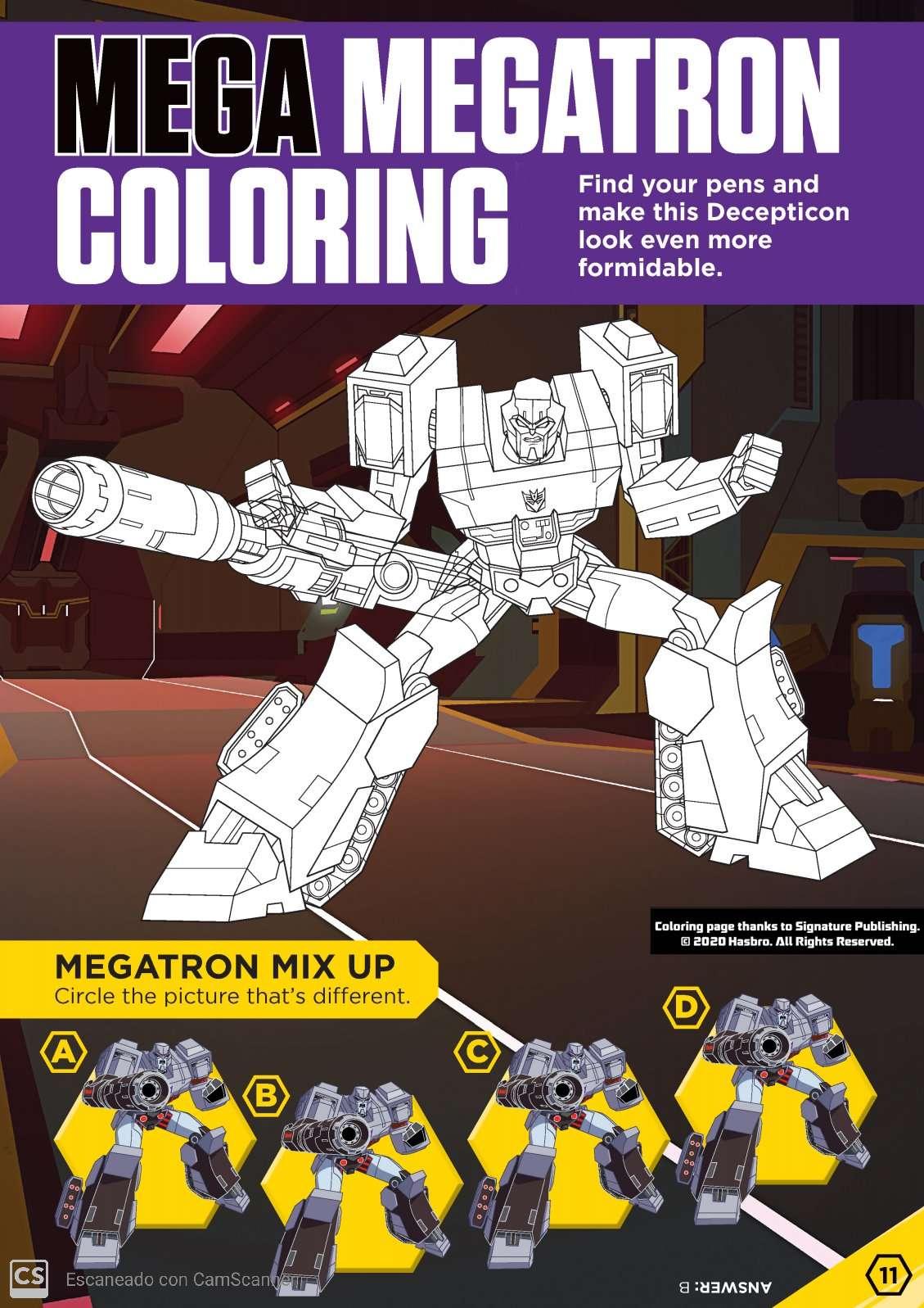 Hasbro S Bring Home The Fun Free Printable Mega Megatron