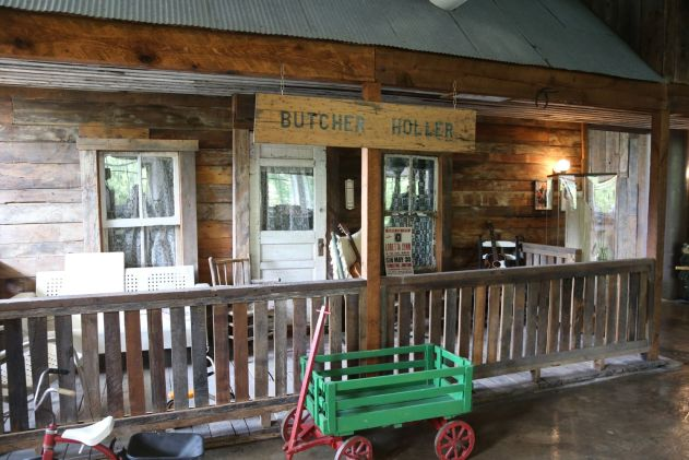 Recreation of Butcher Holler front porch