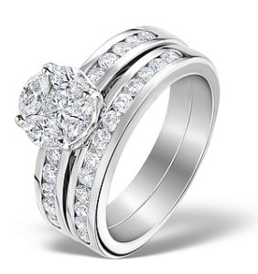 Matching engagement and wedding ring set, also known as a 'bridal set'