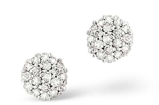 diamond cluster earrings