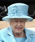 The Queen's aquamarine brooch