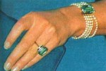 Lady Diana's aquamarine ring