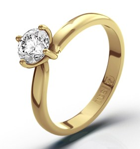 Diamond Solitaire in Yellow Gold