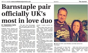 Our winners featured in the North Devon Journal - TheDiamondStore's BritainsGotLove competition