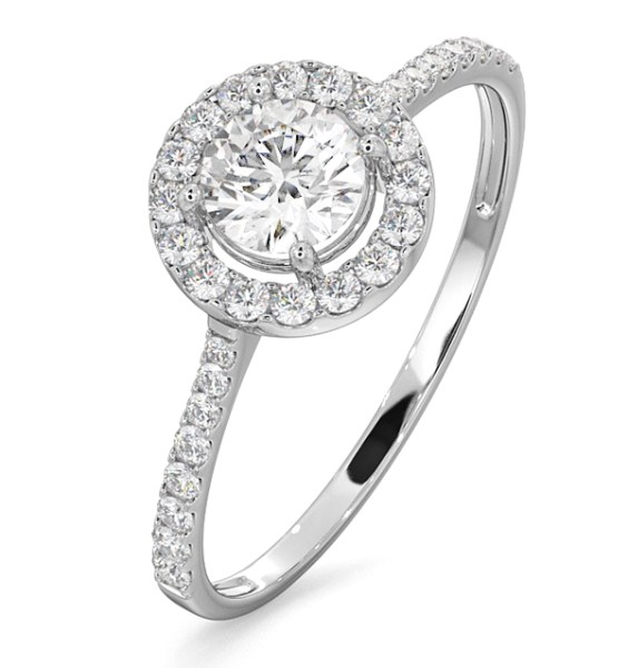 Certified Halo Engagement Ring with certificate from IGL