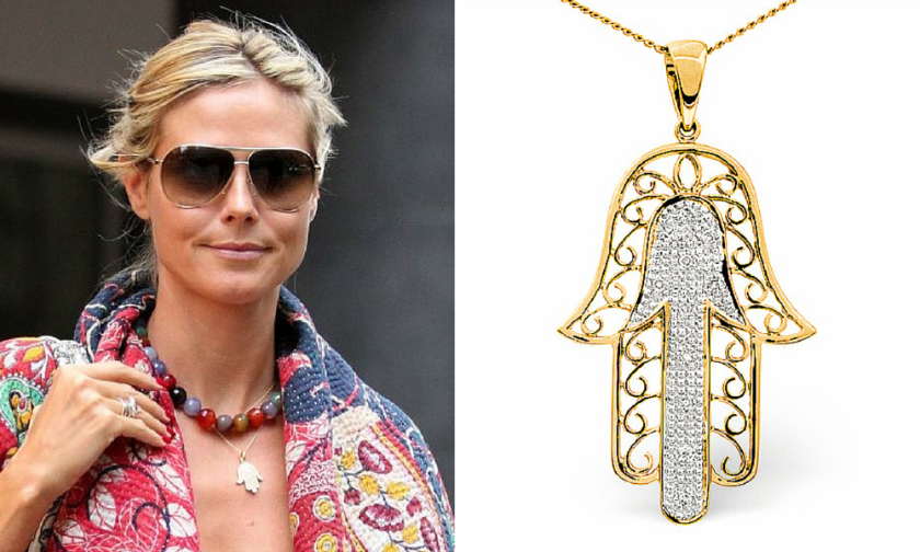 Celebrity Hamsa necklace