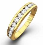 Half Eternity Ring Yellow Gold