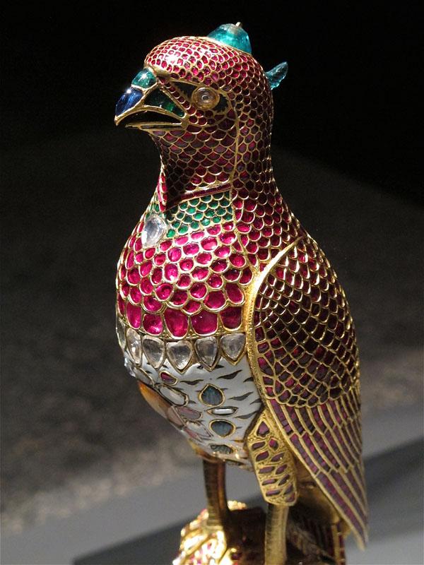 Ruby encrusted bird statue, Museum of Islamic Art, Doha, Quatar